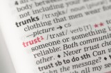 Leadership speaker and author Bob Vanourek use this picture of the trust definition in the dictionary to express the importance of trust.