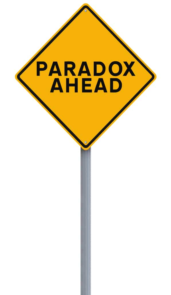 paradox antithesis The word antithesis can be used in a rhetoric context when someones makes a point that's a thesis a counterargument is its antithesis when this leads to a conclusion reconciling both statements that's a synthesis.