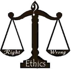 Leadership speakers and authors, Bob Vanourek and Gregg Vanourek, use the image of a scale to illustrate the importance of judgement in ethical decision-making.