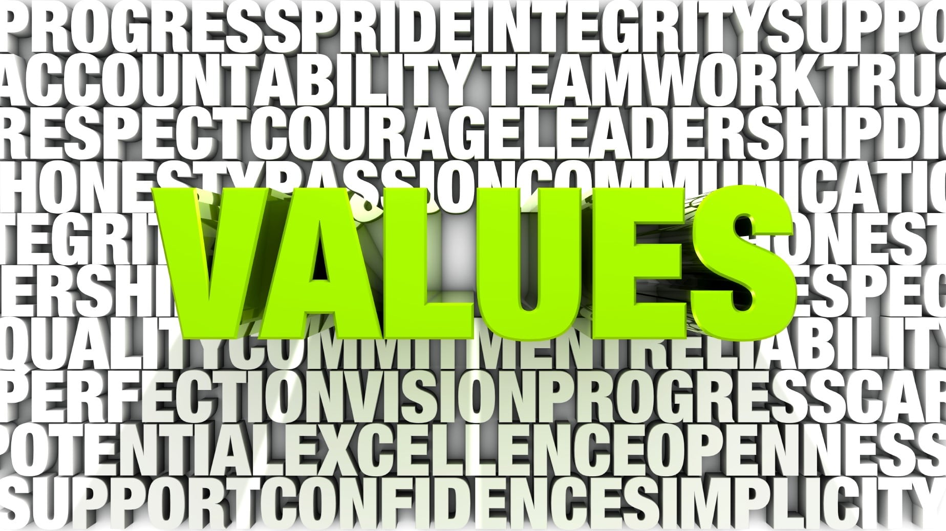 Leadership Authors and Business Speakers Bob Vanourek and Greg Vanourek, feature guest blogger Harvey Kaufman, who uses the image of the word values over a group of words that are considered values to show the importance of values in buisness