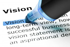 Vision highlighted in blue
